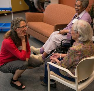 Anne Basting, left. (Photo: John D. & Catherine T. MacArthur Foundation)