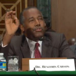 Ben Carson, M.D., testifies at the Senate Banking, Housing and Urban Affairs Committee hearing.