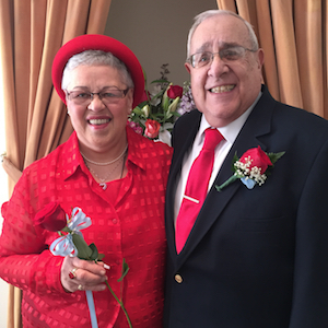 Newlyweds Edie Dombal, 72, and Rich Cirella, 77.