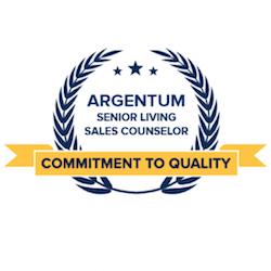 Argentum senior living sales counselor logo