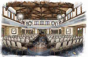 An artist's rendering of Edgemere's performing arts center.