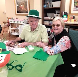 Poet's Walk San Antonio resident Jon Boyes and his wife, Faye Boyes, enjoy the celebration.