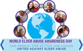 The World Elder Abuse Awareness Day logo.