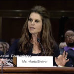 Maria Shriver testifies at the March 29 hearing of the Senate Special Committee on Aging.