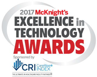 2017 McKnight's Excellence in Technology Awards logo