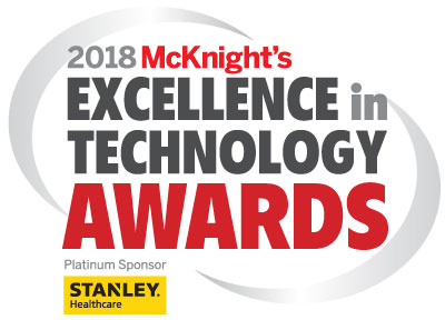 2018 McKnight's Excellence in Technology Awards logo