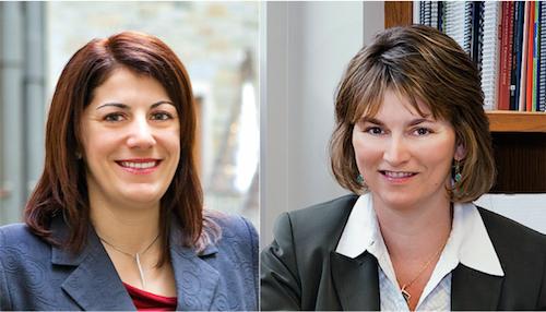 Gergana Nenkov, Ph.D., left, and Linda Court Salisbury, Ph.D.