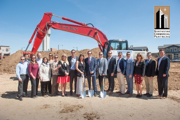 Representatives of Northstar and Balfour and others break ground. (Photo: Balfour Senior Living)