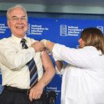 Health and Human Services Secretary Tom Price gets a flu shot. (Photo: CDC)