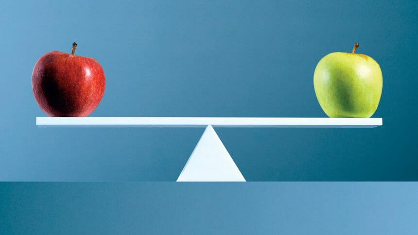 Apples, balance, scale