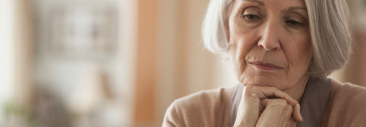 Lonely senior woman
