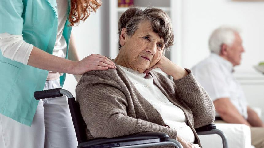 Senior with dementia