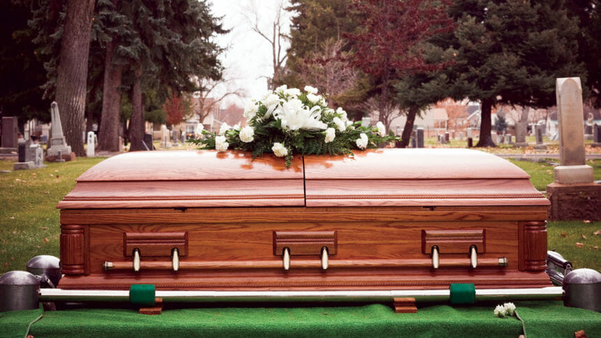 Coffin, mortality rate