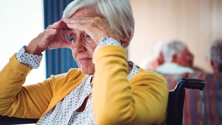 Confused elderly person