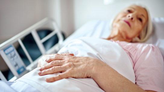 Sick elderly person