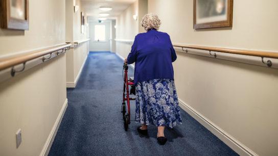Wandering senior, nursing home