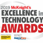 2019 McKnight's Tech Awards logo