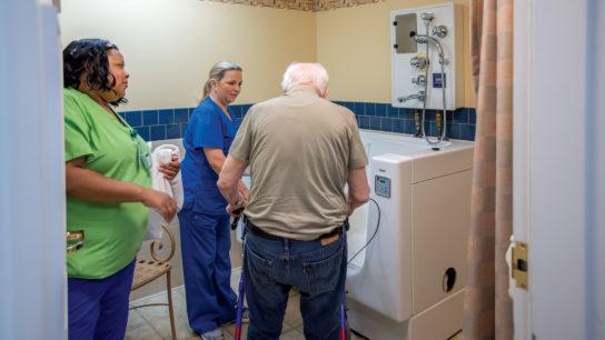 senior bath assistance