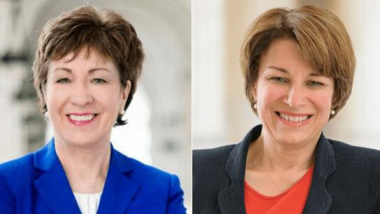 Senators Susan Collins and Amy Klobuchar