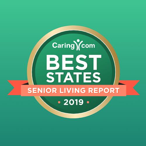 Caring Best Cities for Senior Living 2019 logo