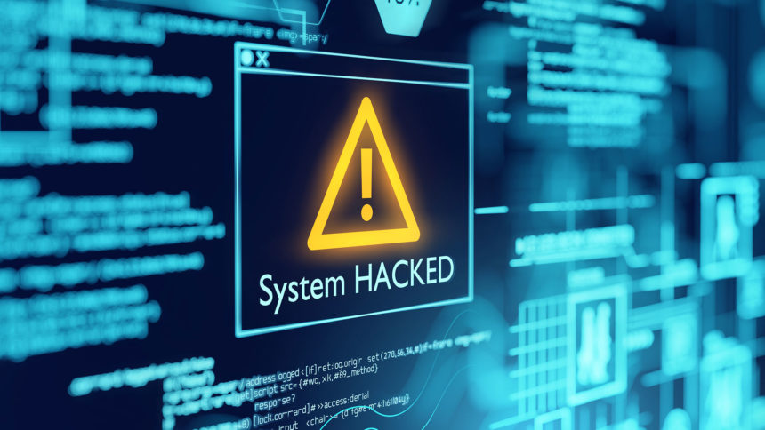 System hacked image