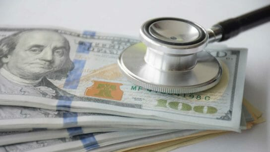 money, stethoscope