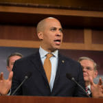 Sen Cory Booker speaks.