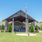 senior living community front entrance