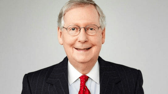headshot of Sen. Mitch McConnell