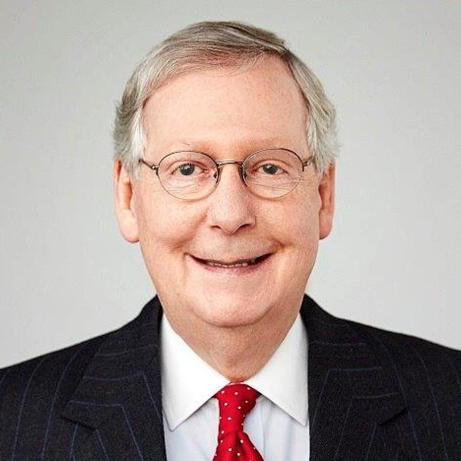 headshot of Sen. Mitch McConnell