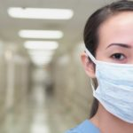 closeup of nurse in a corridor