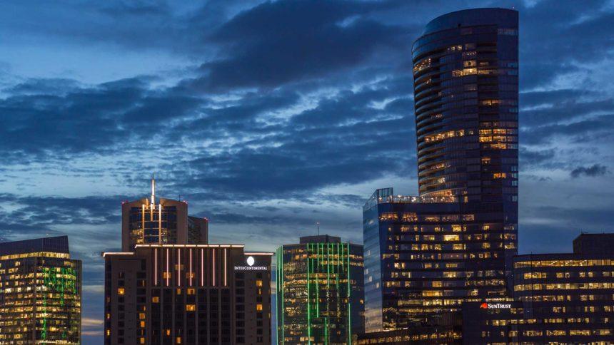 nighttime city shot