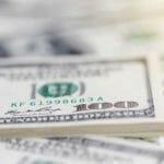 close-up of money