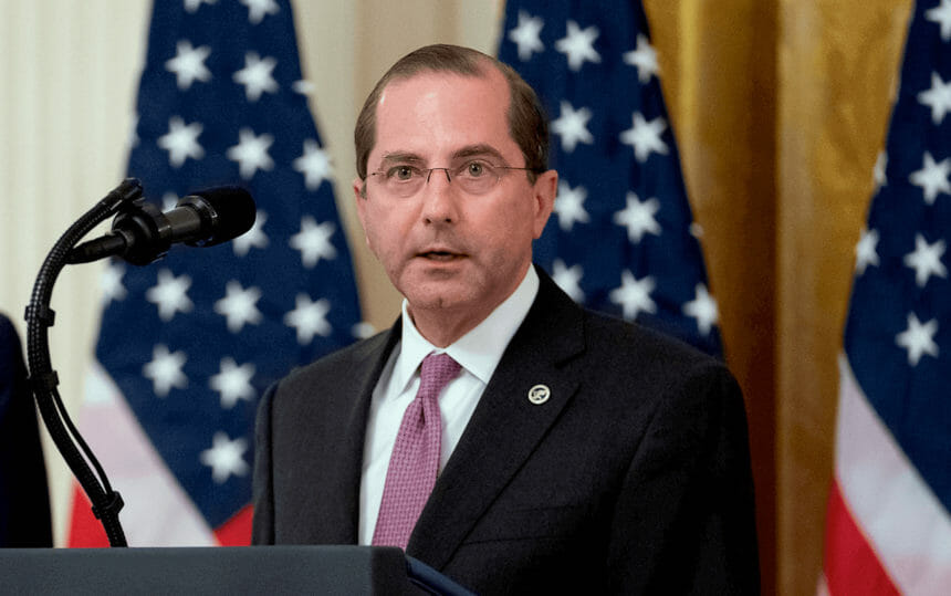 Alex Azar speaking