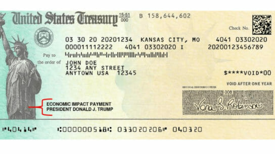 sample photo of a stimulus check