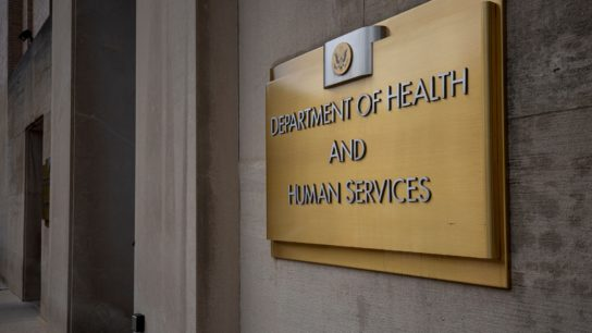 Department of Health and Human Services sign