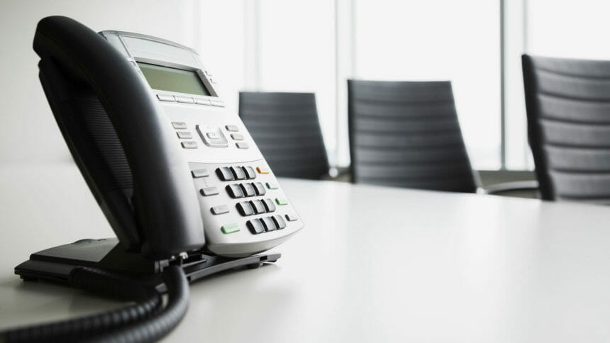 office phone on conference room table