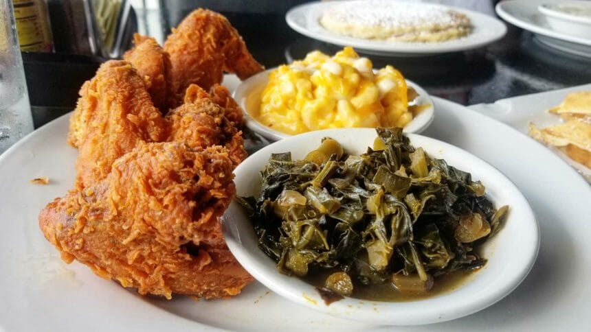plate of southern food