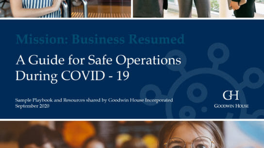Goodwin House COVID playbook cover