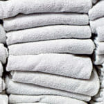 stacks of white towels