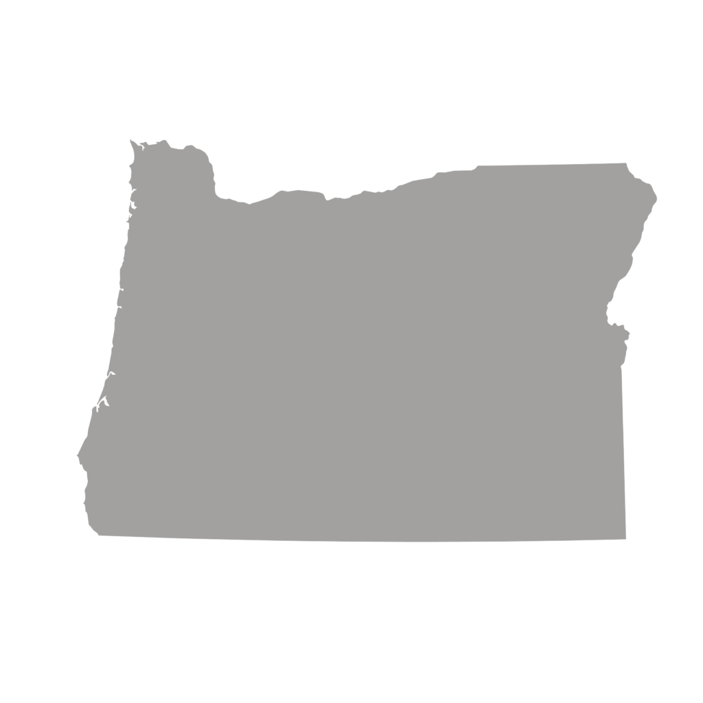 outline of state of Oregon