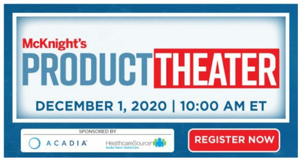 Dec. 1 McKnight's Product Theater will highlight industry innovations