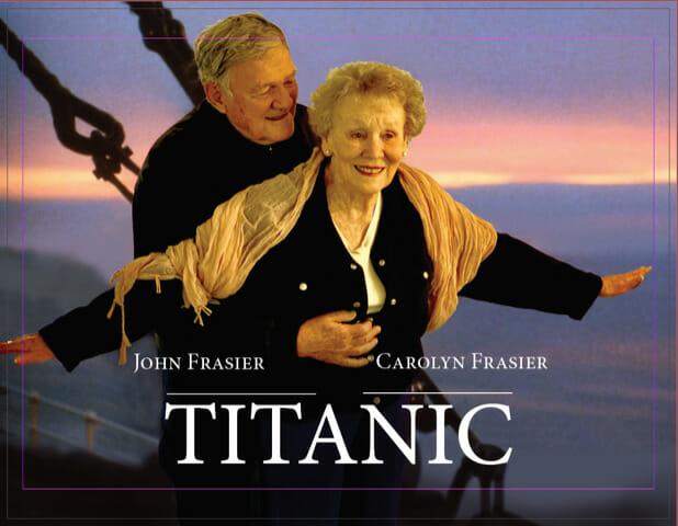 Titanic movie poster re-enactment