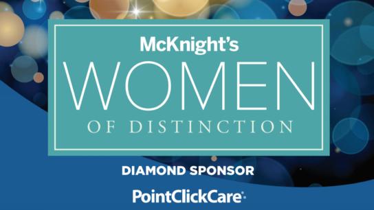 2021 McKnight's Women of Distinction logo