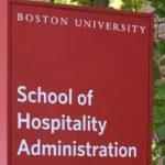 Boston University Hospitality Management school sign