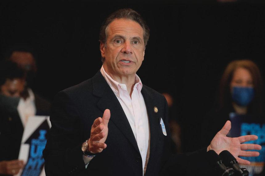 New York Gov. Andrew Cuomo speaking