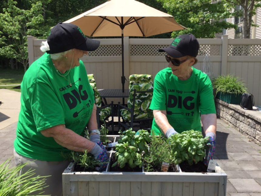 Residents gardening at Brandywine Living